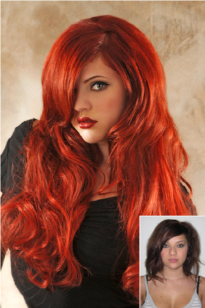 Hairstyles on Hair Extensions Red Hair Ext     Best Hair Salon In Fredericksburg